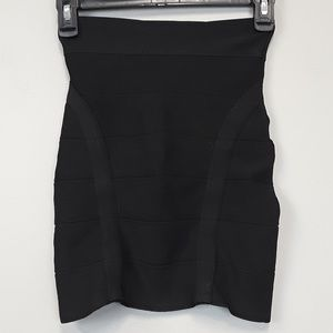 BEBE black bandage mini skirt size Medium